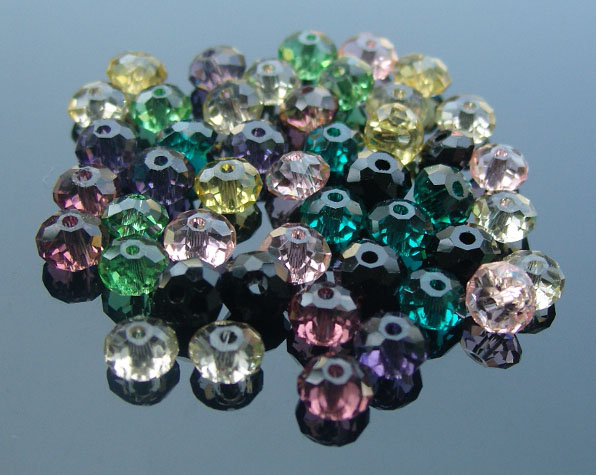 Crystal Oblate Beads (sold in per package of 100 pcs)