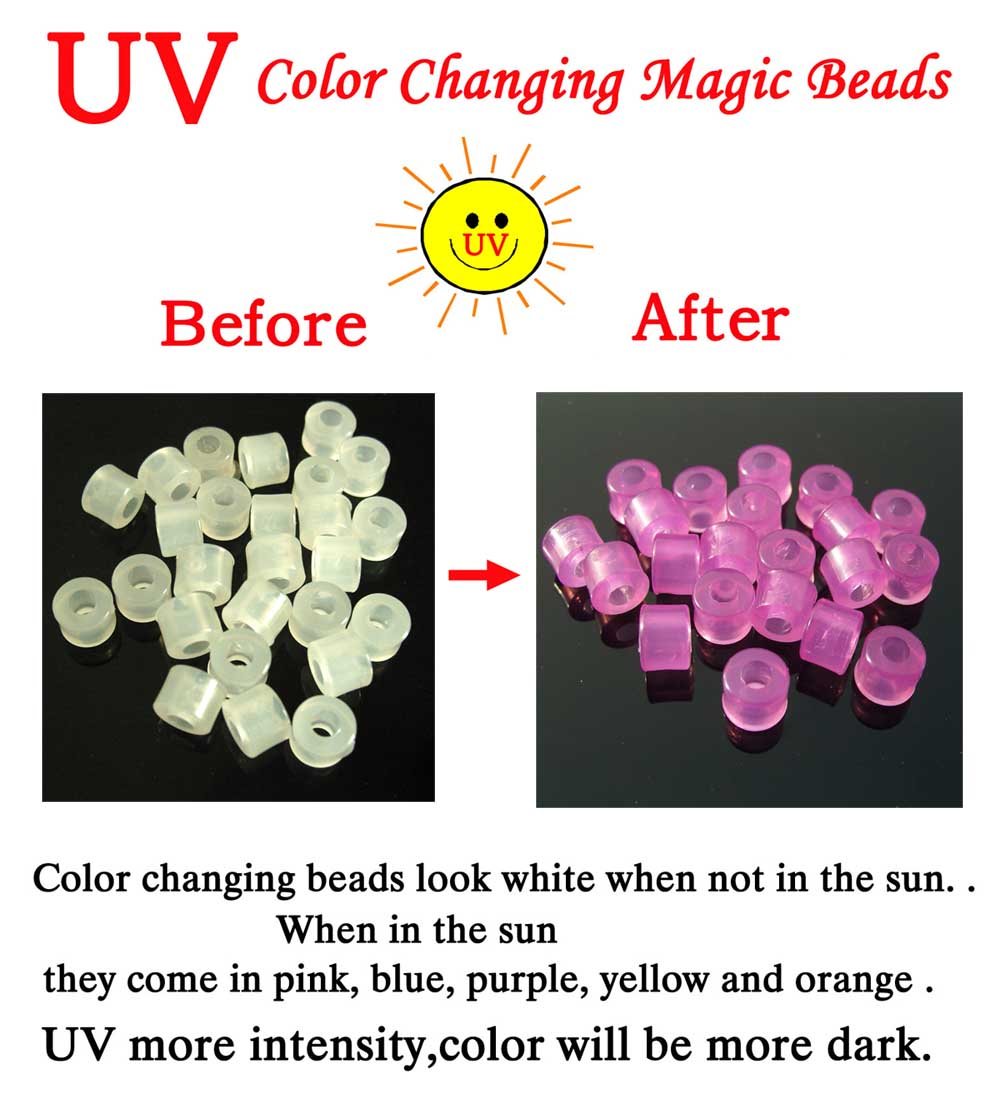 UV Color Changing Magic Beads(Sold in per package of 100 pcs)