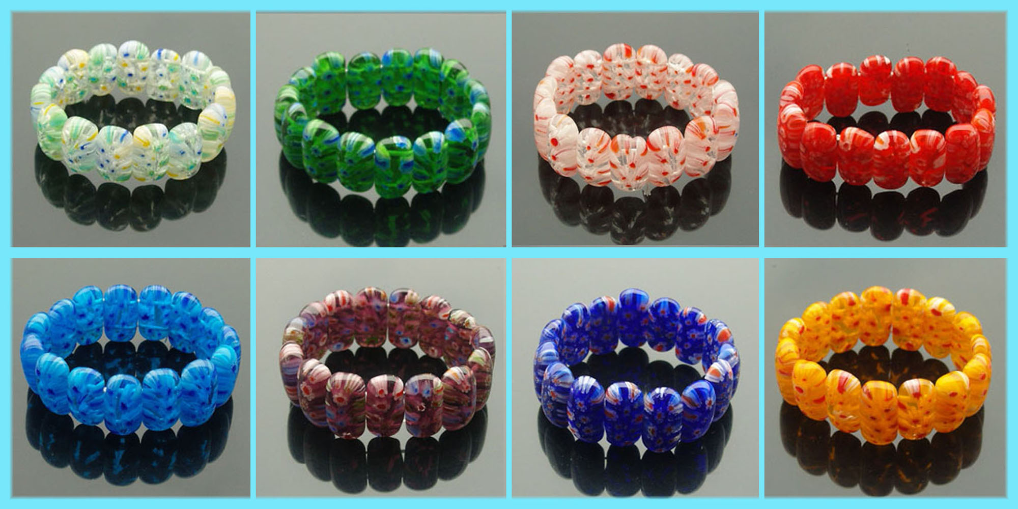 Top Murano Glass Bracelets(Sold in per package of 8 pcs, assorted colors) 2000 x 1000 · 299 kB · jpeg