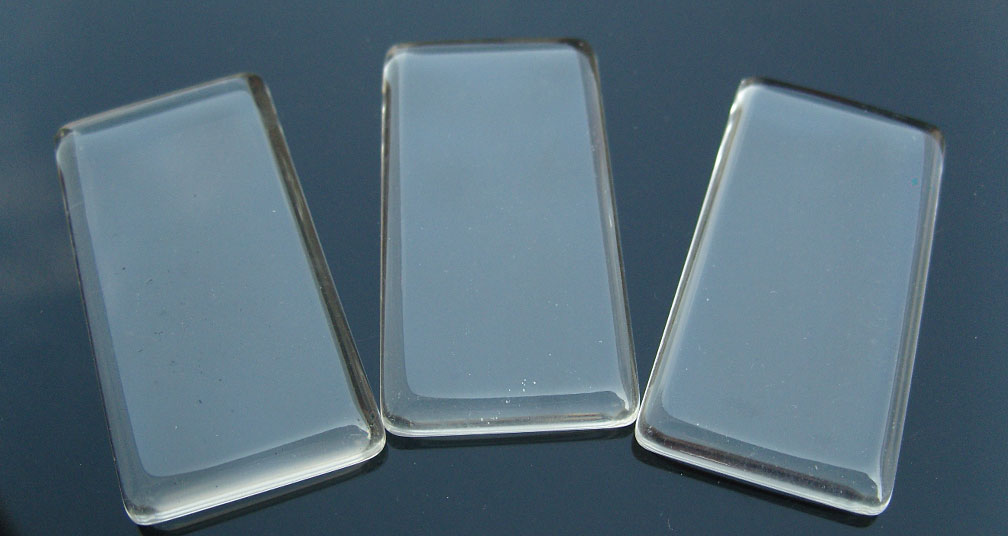 Rectangle Glass Tile For Pendant Jewelry Making (48x24MM)