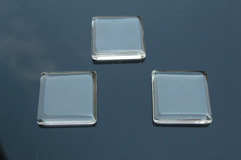 Square Glass Tile For Pendant Jewelry Making (23x23MM)