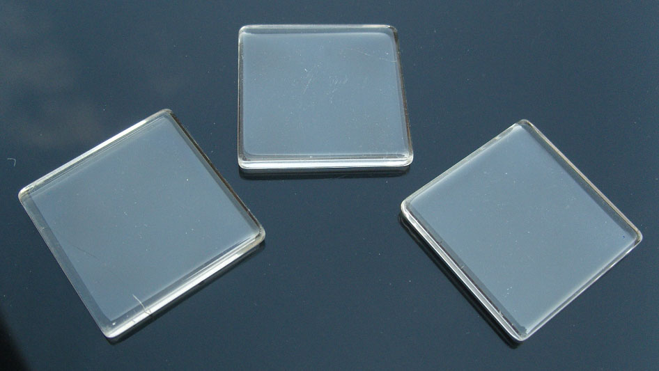 Square Glass Tile For Pendant Jewelry Making (35x35MM)