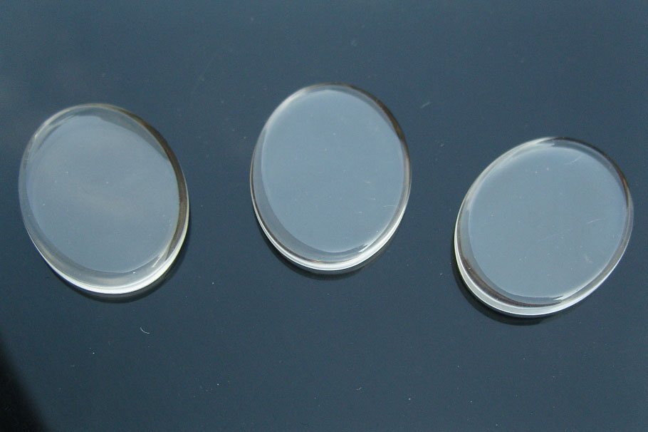 Oval Glass Tile For Pendant Jewelry Making (31x23MM)