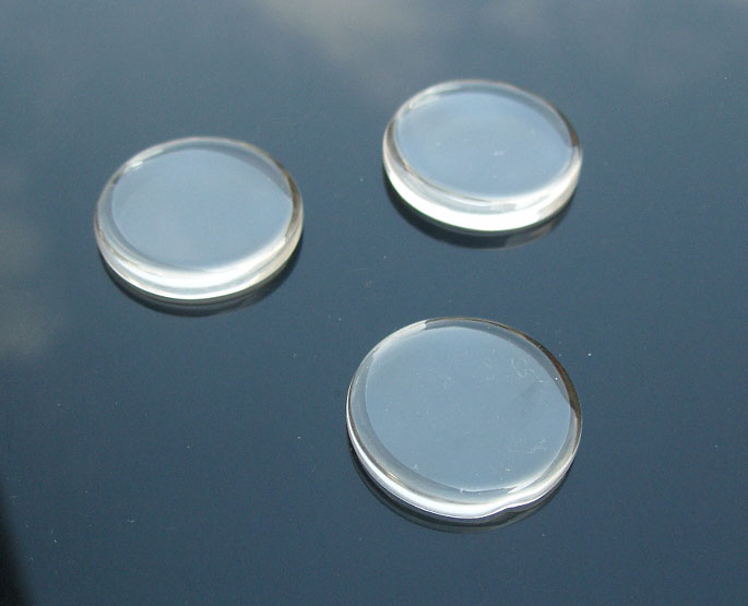 Circle Glass Tile For Pendant Jewelry Making (25x25MM)