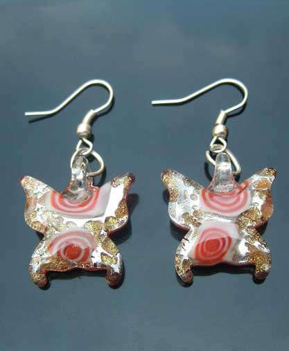 Murano ‎Butterfly Earrings (sold in per pairs)