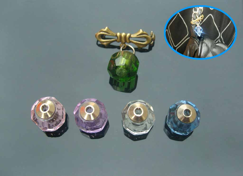 Bowknot Brooches with crystal vials(Assorted Colors)