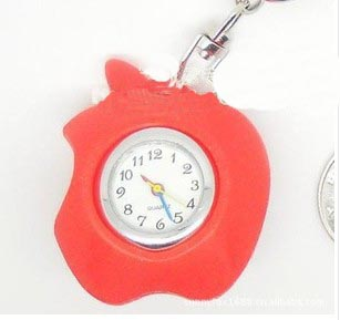 Apple Keychain Watches(sold in per package of 10pcs,assorted colors)