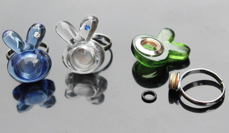 Glass Globe Terrarium Perfume Bottle Pendant Artificial French Acrylic Style False