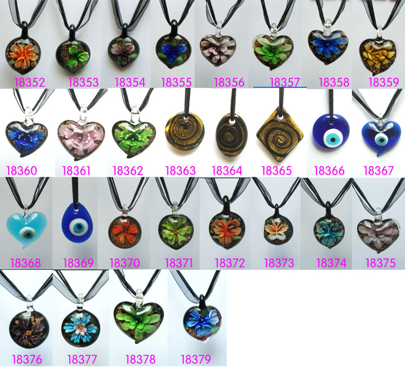 Murano glass necklaceswith cord venetian glass pendants murano murano glass necklaceswith cord aloadofball Images