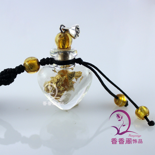 Murano Glass Car Aroma Freshener With Gold Foil Inside