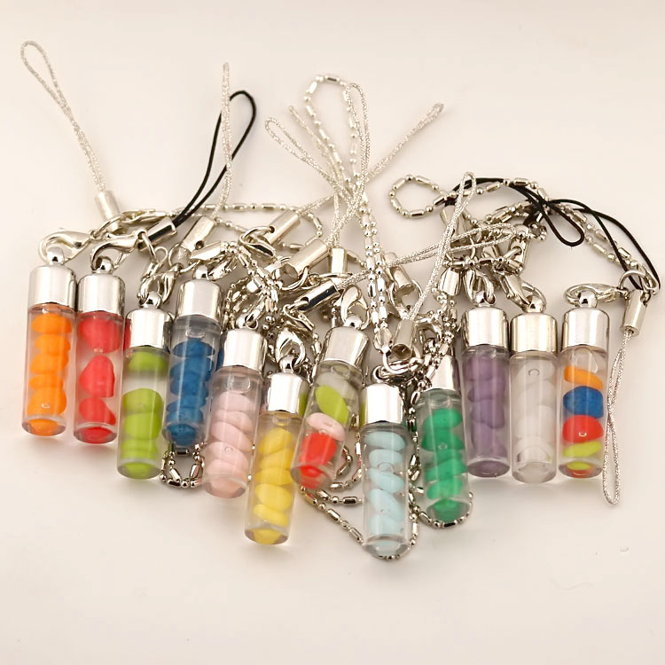 Wishing Bottle Cellphone Charms Assorted Colors