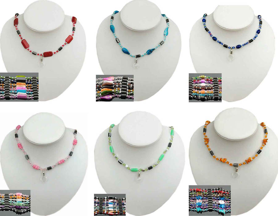 Magnetic Health Necklaces With 5MM Glass Vials(Assorted)