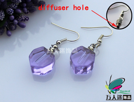 Perfume Earrings (Small Heart,Sold in Per Pairs,With Diffuser Hole)