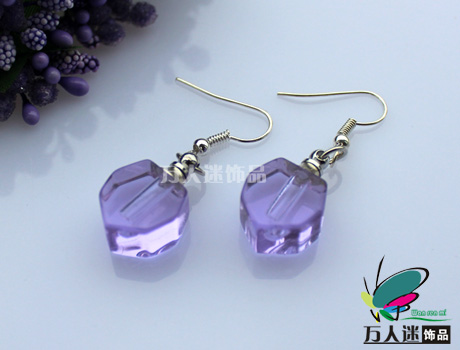 Rice Vial Earrings (Small Heart,Sold in Per Pairs)