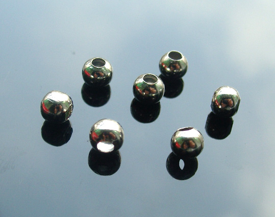 6MM METAL BEADS NICKLE-PLATED