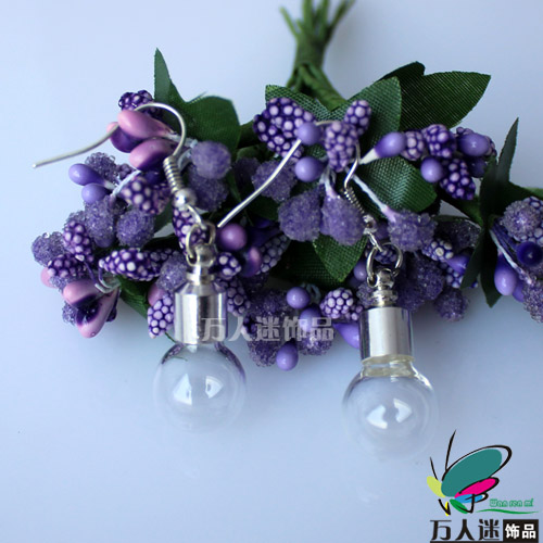 Premade Earrings(Sold in Per Pairs,6MM Bulb Preglued silver-plated screw caps)