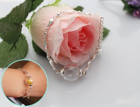 Lip Ear Bone Bar Stud Chin Tongue Ring Crystal Trinket Necklace Pendant Resin Flower For Diy