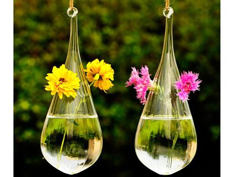 20x9cm Handmade Hanging Glass Vase Glass Vases Glass Globe Jewelry