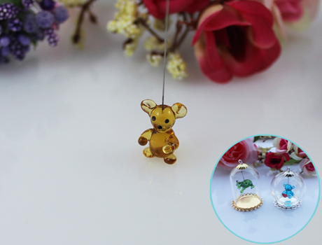 14x11MM Bear With Hanging Iron Wire