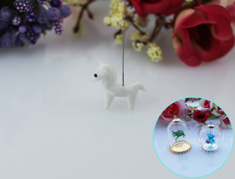 18x14MM Horse With Hanging Iron Wire