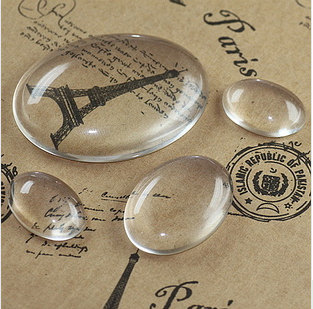 Oval Shape Transparent Magnifying Button Cabochons