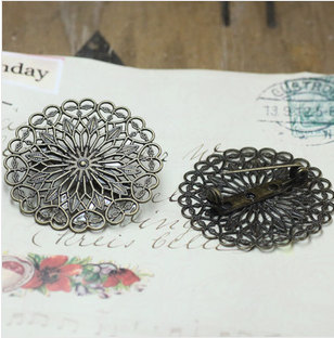 38MM Blank Pin brooch base