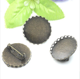 25MM Brooch Pin Back Base Disk