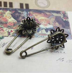 16MM Large Antique Bronze Safety Pins