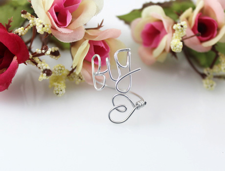 Big Heart wire ring
