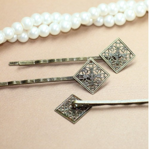 15MM Filigree Bobby Pins