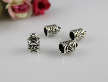 10x11MM Alloy Metal Caps For Glass Globe Vials(Sold package of 10 pcs)