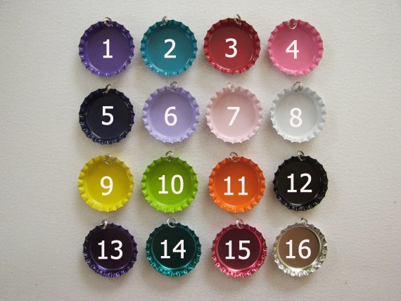 Double sided Color Crown Bottle caps with rings