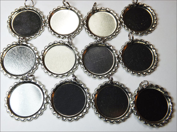 Bottle caps flat with split rings