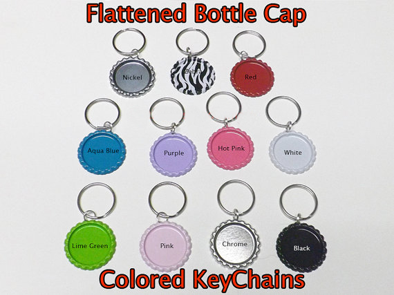 Colors DIY Bottle Cap Key Chain