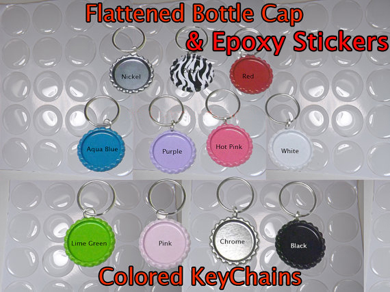 Colors DIY Bottle Cap Key Chain kit