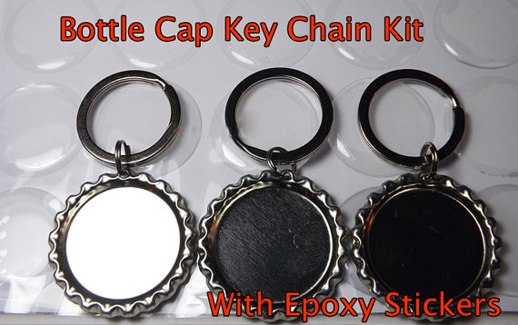 DIY Bottle Cap Key Chain kit