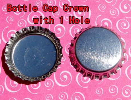 Crown Bottle caps With 1 Hole