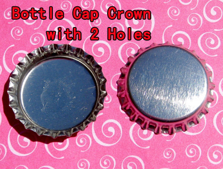 Crown Bottle caps With 2 Holes