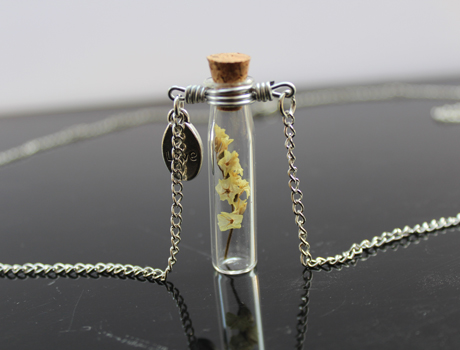40X10MM Real Nature dry flowers Necklace