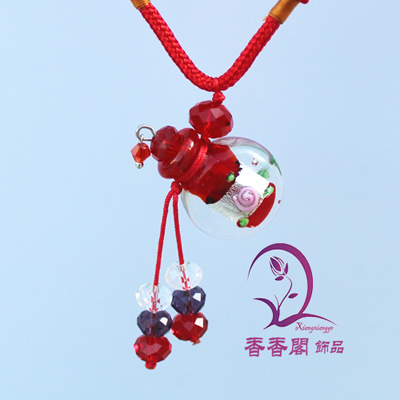Murano Glass Perfume Necklaces (with cord)