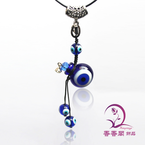 Lucky Eye Murano Glass Perfume Necklaces (with cord)