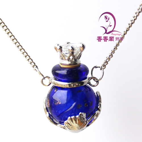 Murano Glass Perfume Necklace Gold Dust Ball