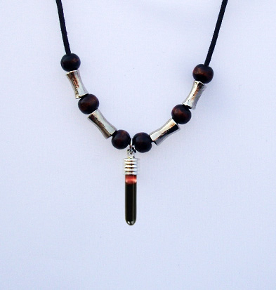Blood Vial Fang Necklace