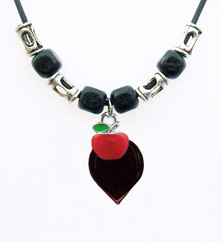 Blood Vial Fang Necklace with Apple