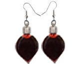 Heart Plain Blood Vial Earrings(5MM Glass Vials,Sold in per pairs)