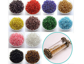 2MM Silver-lined Glass Seed Beads(Sold with package of 50g)