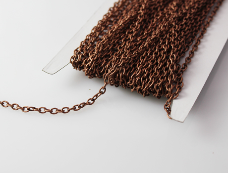 Antiqued copper round cable chain 3X4mm(Sold per metre)