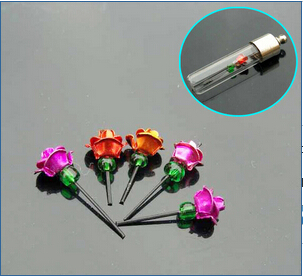 Mini Metal Rose For 8MM Vials (sold in per package of 100pcs assorted colors)
