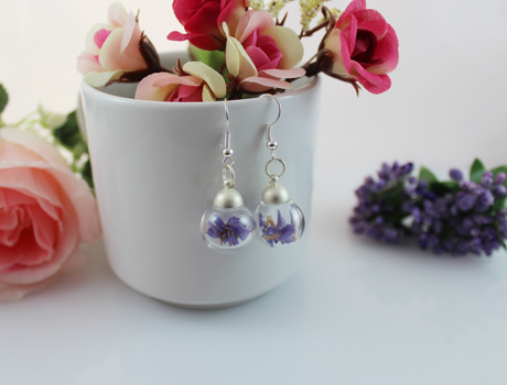 16MM Forget Me Not Real Dry Flower Earrings (Sold in per pairs)