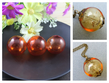 25MM Red Wine Glass Globe Pendant With Opening hole on both ends